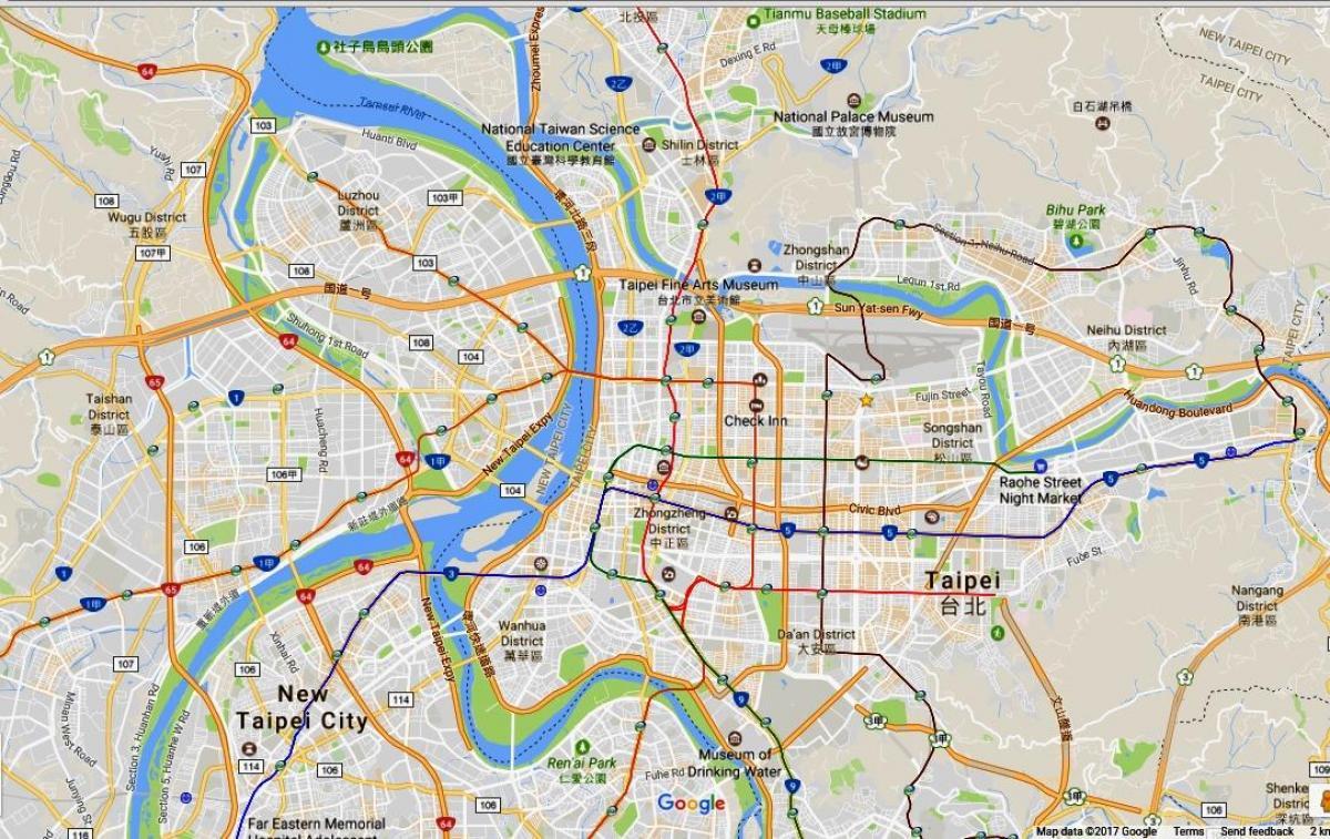 Taipei Pyora Map Taipei Pyoraily Kartta Taiwan